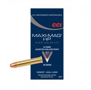 CCI Maxi Mag HP, .22 WMR - 40 GR