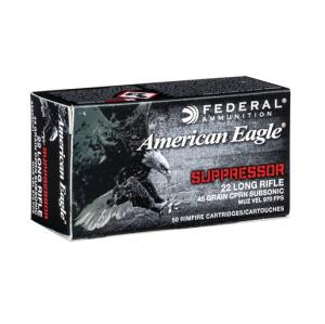 Federal American Eagle Rimfire Suppressor 45gr - .22 LR
