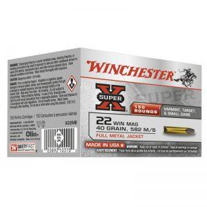 Winchester SUPER X .22 WM FMJ 40 GR