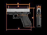 GLOCK G43Х FS Silver Slide Subcompact, кал. 9 mm Luger