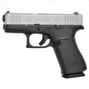 GLOCK G43Х FS Silver Slide, NS Steel, Subcompact - 9 mm Luger