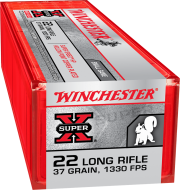 Winchester SUPER X .22 LR, HP - 37 GR